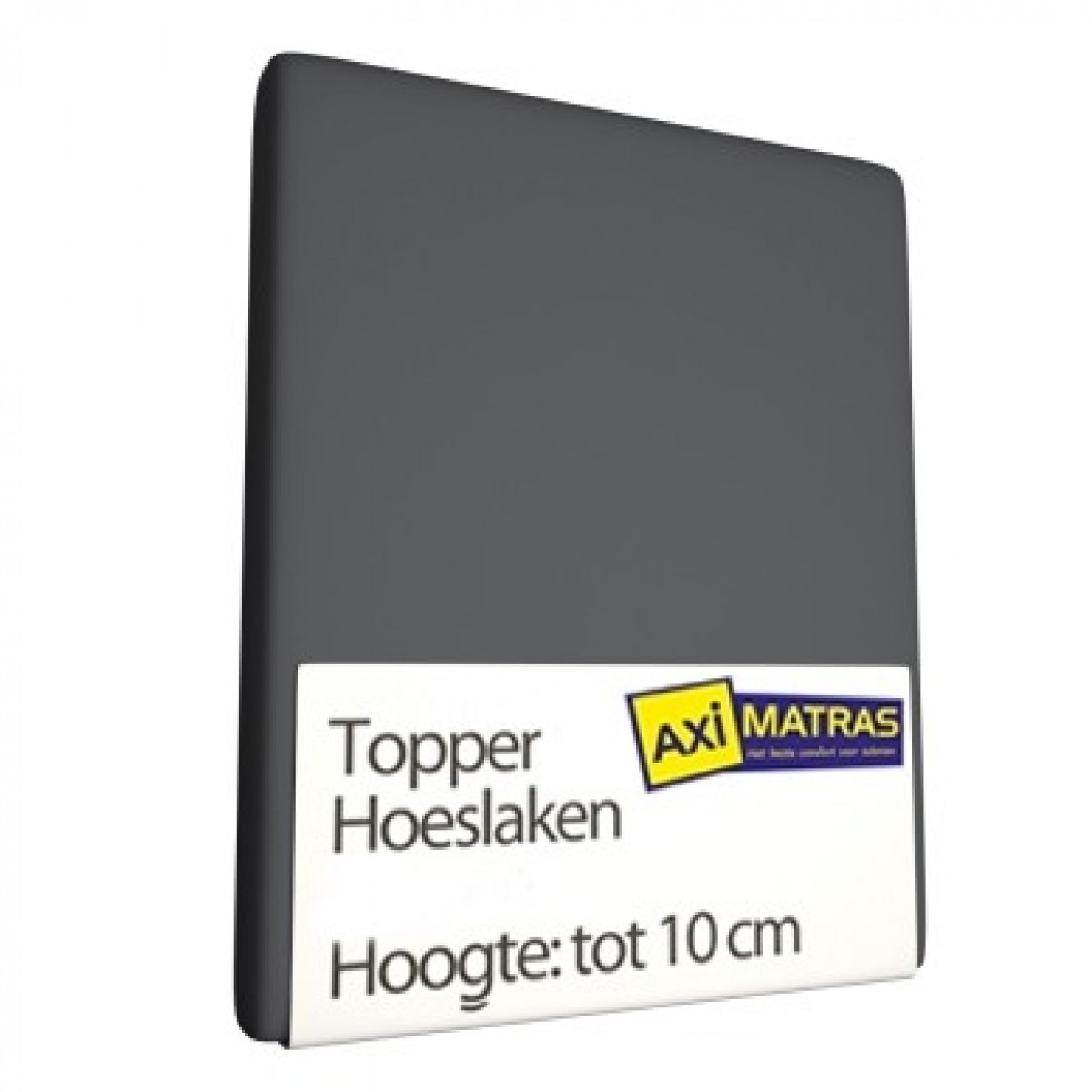 Tophoes laken Antraciet split jersey