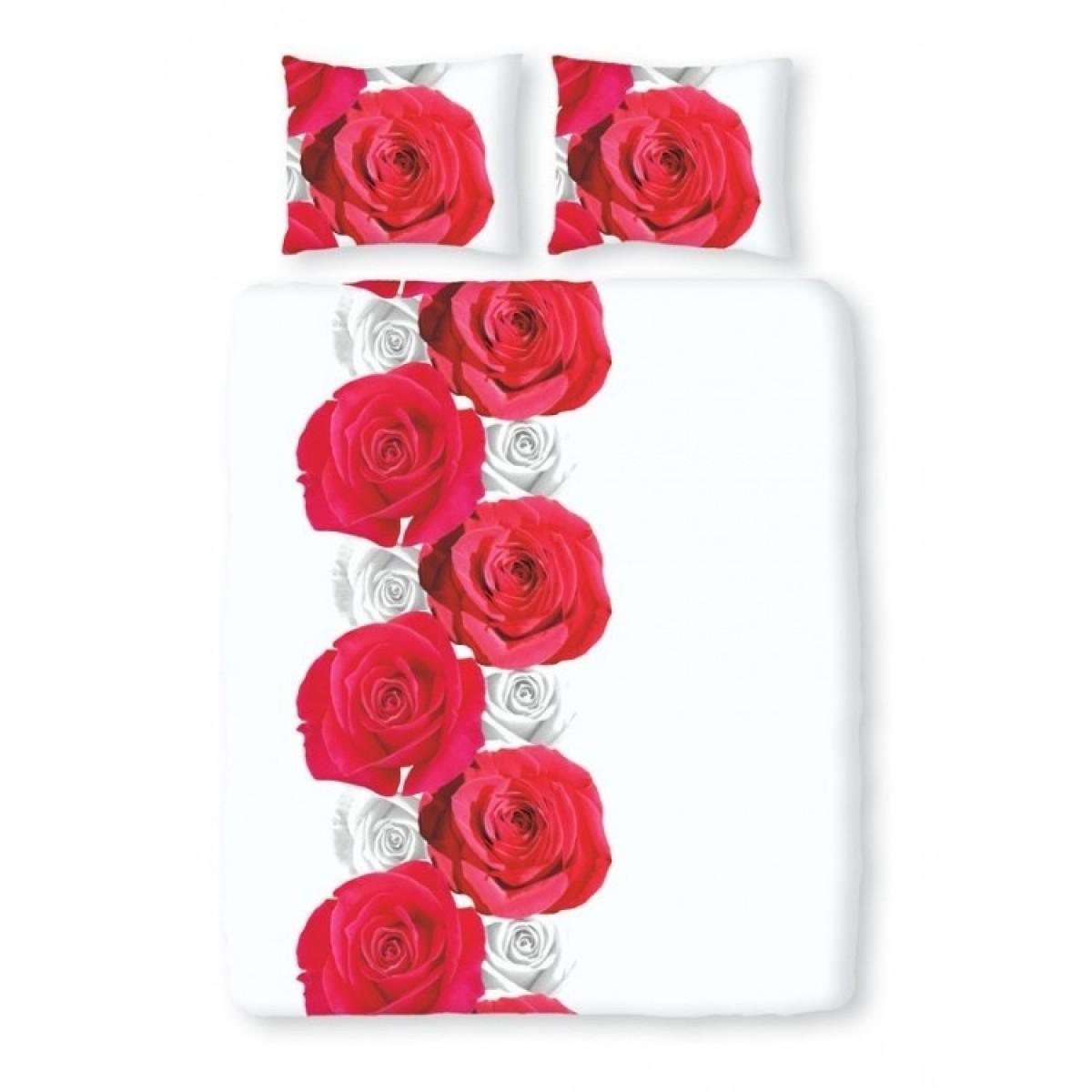 Romanette Satin D'or Roses Wit