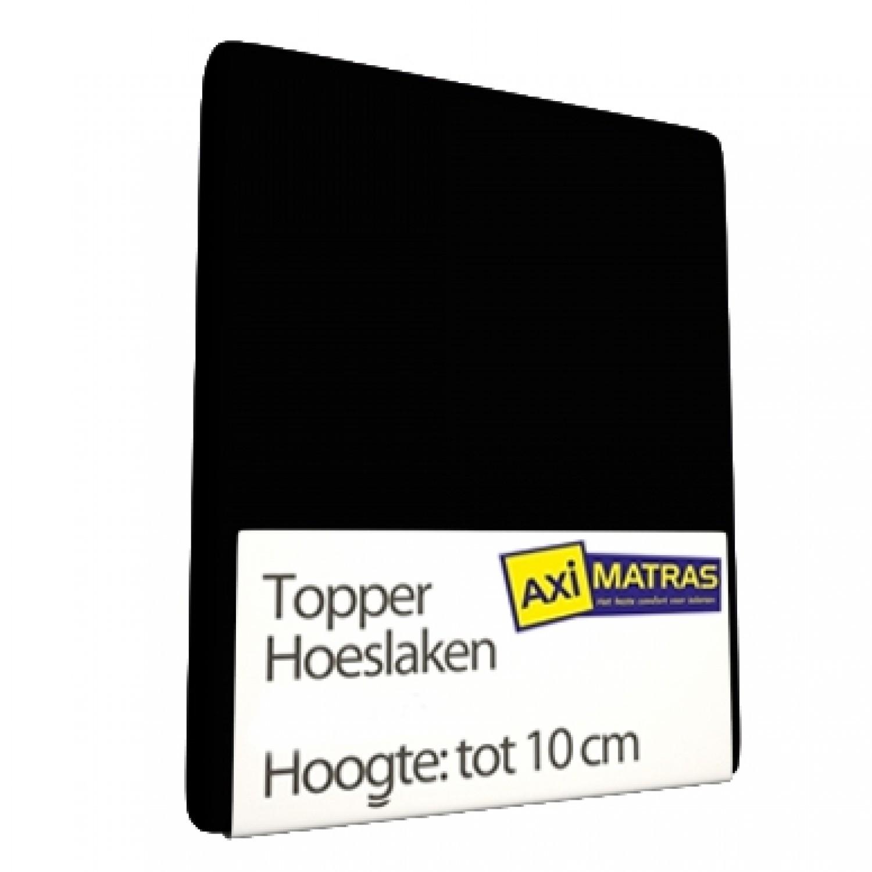 Tophoes laken Zwart vast jersey